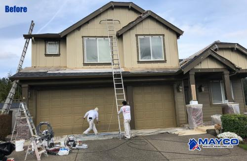 Exterior Painting Project - Before 123